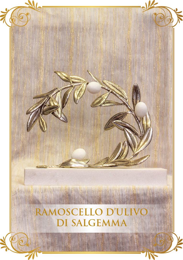 Ramoscello d'ulivo di Salgemma - Realizzazione di Orietta Rossi e Giovanni Serra
