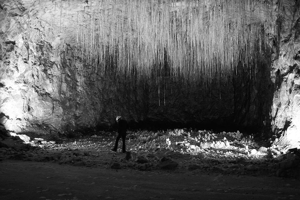 Foto di sopralluogo dell'artista presso la Miniera Italkali, Realmonte, photo Nicolò Stabile